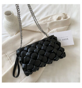 New Luxury Handbags Women Shoulder Bags Metal Chain Leather Evening Clutch Bags