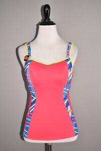 PANACHE NEW $78 Pink Multi-Color Sports Vest Optional Racerback Size 30E