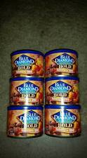 (6) Cans of Blue Diamond Bold Habanero BBQ Almonds 6 oz each--Exp 12-2018....