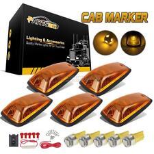 5pc Amber Roof Cab Marker Lights Amber LED Assembly for 2003-2009 C4500 Kodiak