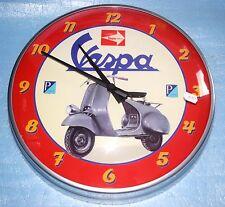 Horloge murale vintage Vespa rouge Scooter