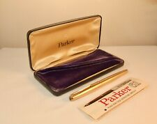 VINTAGE PARKER 61 CONSORT INSIGNIA FOUNTAIN PEN - ROLLED GOLD - RARE & BOXED