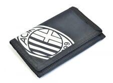 AC Milan Football Club Official Black Tri Fold Reach Wallet Crest Badge Team