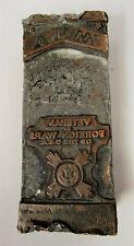 Vintage Lead Metal Copper Printers Block VFW Veterans Of Foreign Wars RARE!