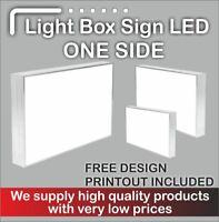 Illuminated Light Box Shop Sign (FREE DELIVERY + FREE DESIGN) - 130 cm x 50cm