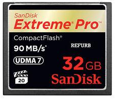 32GB Extrême Pro CompactFlash CF CARTE 90MB/S SANDISK sdcfxp-032g 600x véritable