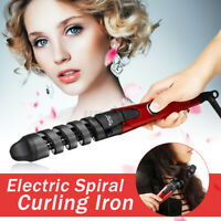 Electric Hair Curler Roller Curling Tools Pro Ceramic Spiral Iron Wand Styling