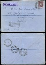 POLAND WW2 1946 ITALY REGISTERED GB 3d AIRMAIL FPO 122 + 111 + 104