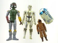 Lot Of 8 Vintage Star Wars 12 Inch Figures C-3PO R2-D2 Boba Fett Luke Skywalker
