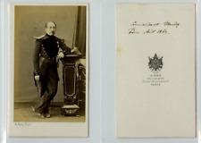 A. Ken, Un commandant nommé Meudez CDV vintage albumen carte de visite,  Tirag