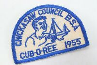 Vintage 1955 Chickasaw Council CUB-O-Ree BSA Boy Scout of America Camp Patch