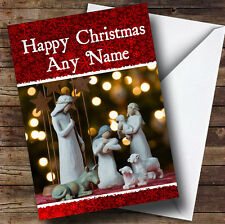 Nativity Lights Christmas Greetings Card Personalised