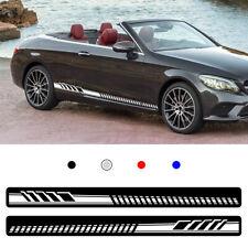 For Mercedes Benz Car Body Sticker Vinyl Side Skirt Sticker Decals white 2pcs