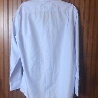 Charles Tyrwhitt Men's Size 16 1/2  34  Small Stripe  Blue & White Great Quality