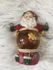 Christmas Santa belly Snow Globe Figurine