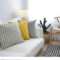 Art Pattern Geometric Cotton Linen Pillow Case Sofa Throw Cushion Cover