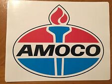 Tin Sign Vintage Amoco Gas Oil.