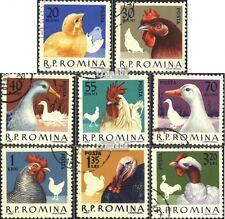 Rumänien 2145-2152 (kompl.Ausg.) gestempelt 1963 Geflügel EUR 1,20