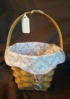Longaberger 2001 HORIZON OF HOPE Breast Cancer Basket With Liner Protector