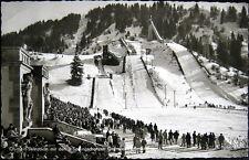 AUSTRIA~1950's GARMISCH PARTENKIRCHEN~OLYMPIC SKI JUMPS ! Sprungschanzen~RPPC