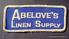 "ABELOVES LINEN SUPPLY SEW ON ONLY PATCH LAUNDRY MT LAUREL NJ UNIFORM 4 1/2"" x 2"""