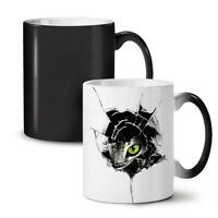 Glass Animal Angry Cat NEW Colour Changing Tea Coffee Mug 11 oz   Wellcoda