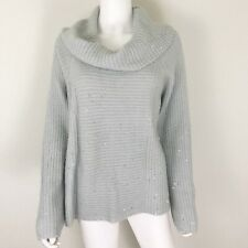 Design History Women's Size XL Sweater Cowl Neck Gray Silver EUC
