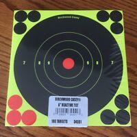 "Birchwood Casey Shoot-N-C 6"" Adhesive Reactive Targets 100 Pack 1200 Pasters"