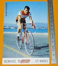 RARE CARTE CYCLISME 1972 EQUIPE BIC ALAIN VASSEUR TOUR DE FRANCE