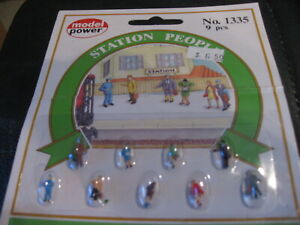 Model Power N Scale Station People, 9pcs #1335