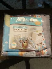BreathableBaby Breathable Classic Mesh Crib Liner Best Friends