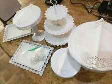 6pcs Set Crystal Metal Cake Holder Cupcake Stand Wedding Party Cupcake Display
