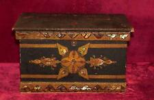 Rosewood Jewelry Sewing Box Silk Lined 1800's MOP Inlay Antique Butterfly Mirror