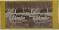 Parc Da Versailles Fontana La Vendemmia Foto Stereo Vintage Albumina Ca 1870