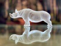 Lalique Toba Rhino - Rhinoceros Perfect mint condition Signed & Authentic