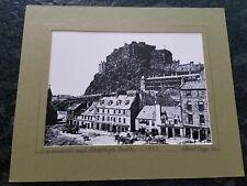 GrassMarket and Edinburg Castle c.1875 Scotland Hand Signed twice Robert Hogg