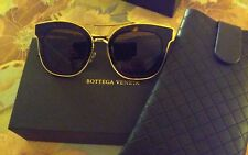 AUTHENTIC NEW BOTTEGA VENETA SUNGLASSES BV0056SK BROWN LIMITED EDITION CAT-EYE