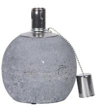 Oil Lamp Concrete, Sphere Lamp in Country House Style, Garden Terrace Torch