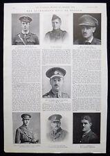 FREDERICK WEAVER CRICKETER SKYRME LEONARD MOON ETC FIRST WORLD WAR WW1 1916