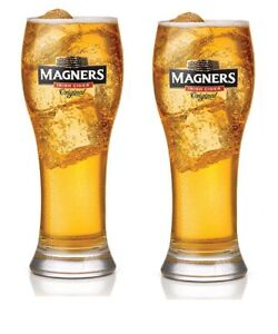 Magners Irish Cider HALF Pint Glasses New Set of 2