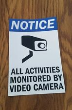 VIDEO SURVEILLANCE CCTV Security Decal  Warning Sticker (4x6 in. 1 pc ) blue