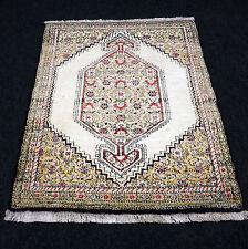 Orient Teppich Ghom 72 x 57 cm Seide Seidenteppich Perserteppich Beige Silk Rug