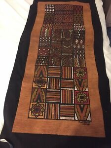 African Bark Cloth Wall Hanging From Uganda