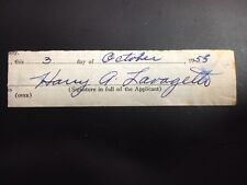 HARRY COOKIE LAVAGETTO PITTSBURGH SIGNED CUT ON DOCUMENT with JSA Pre-certified