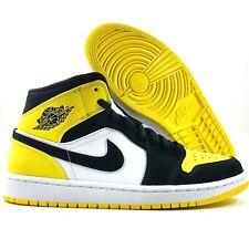 Nike Air Jordan 1 Mid SE Yellow Toe Black Yellow White 852542-071 Men's 9.5