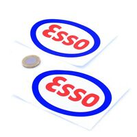 Esso Stickers Classic Car Motorcycle Racing Sticker Vinyl Decals 100mm x2
