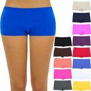 Women's Seamless Basic Solid Mini Layering Stretchable Shorts Casual ONE SIZE