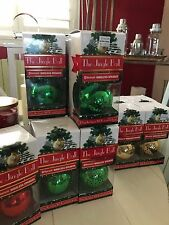 The Jingle Bell Ball Bluetooth Wireless Speaker Ornament Christmas Tree Green
