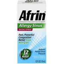 Afrin Allergy Sinus Nasal Spray 0.50 oz (Pack of 4)