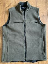 EXOFFICIO wool blend Full Zip Feece Lined Vest Jacket Men's XXL Olive Green